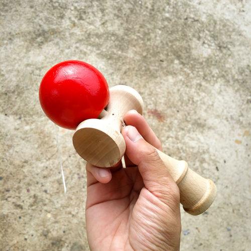 けん玉 is better than a fidget spinner Antique Close-up Holding Human Body Part Human Hand Japan Japanese Toy Kendama Old Red Toy Traditional Toy Wooden Toy けん玉