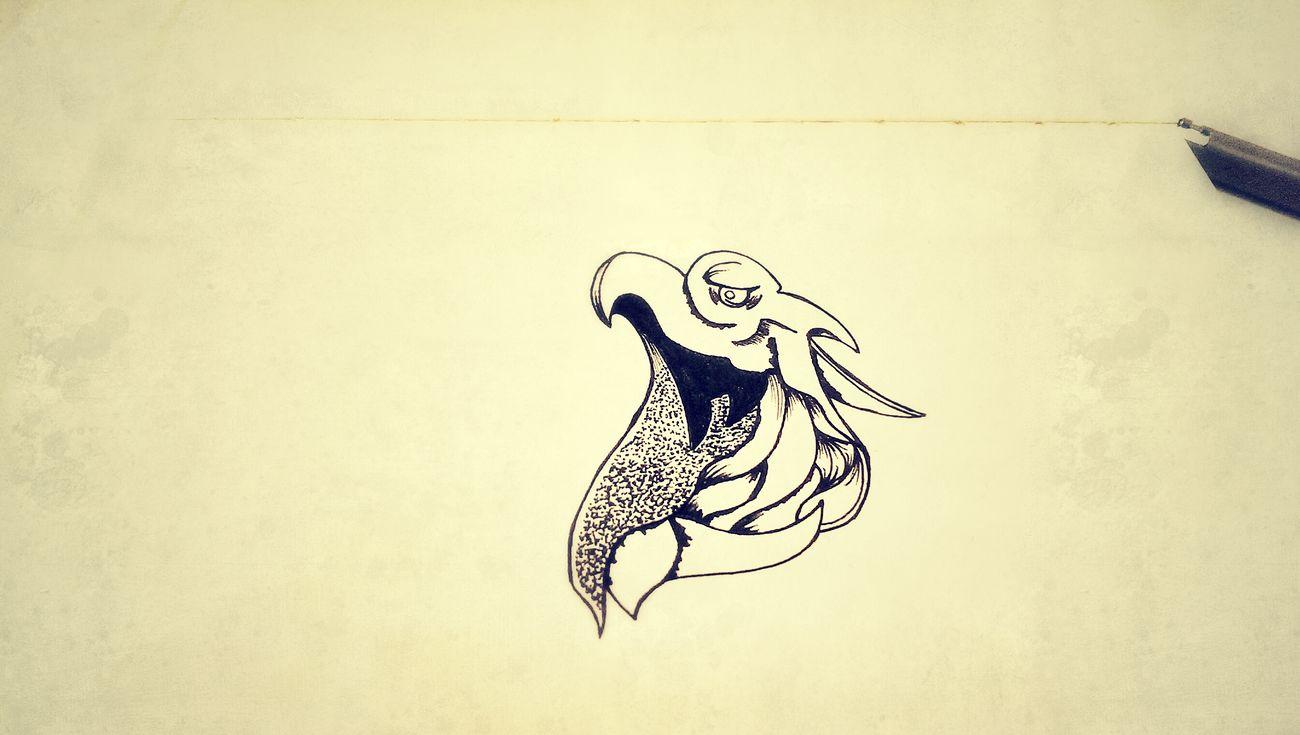 "Everyday drawing ""A clown or a bird?"" The Tree Academy Art, Drawing, Creativity Sketch Enjoying Life"