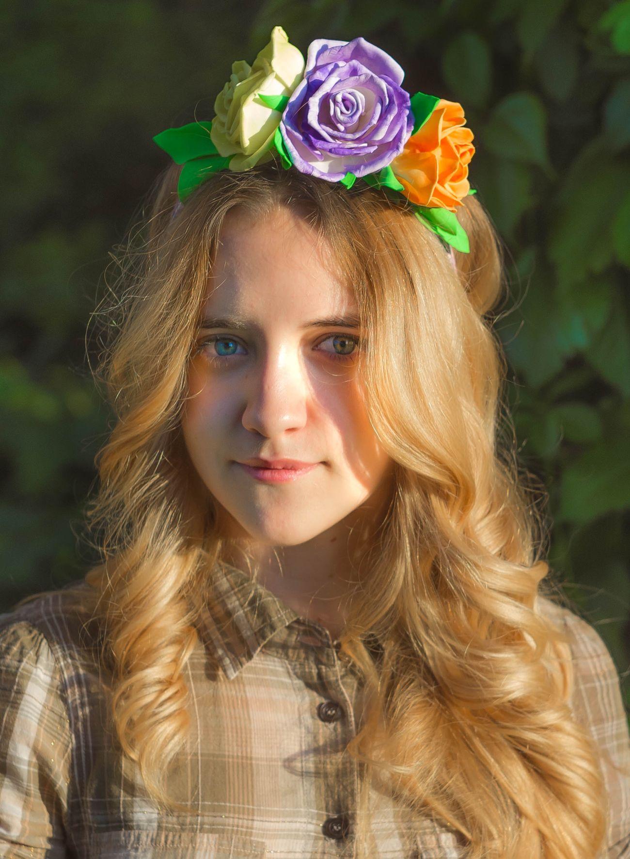 Portrait Gerl Flowers Pentax
