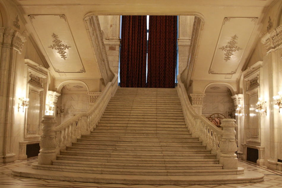 White Stairs Architectural Column Architecture Day Indoors  Large Building Marble Staircase Marble Stairs Marbledstone No People Sculpture Staircase White