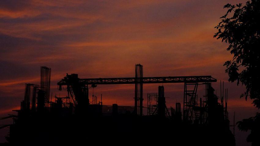 Sunset Construction City View  Urban Fujifilm_xseries Hanoi Vietnam New Player