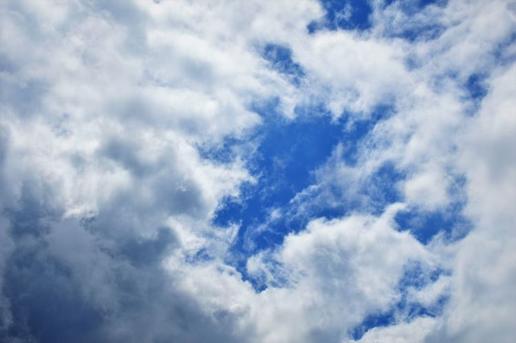 Backgrounds Beauty In Nature Blue Cloud - Sky Cloudscape Day Full Frame Heaven Low Angle View Nature No People Outdoors Scenics Sky Sky Only Tranquility Weather White Color