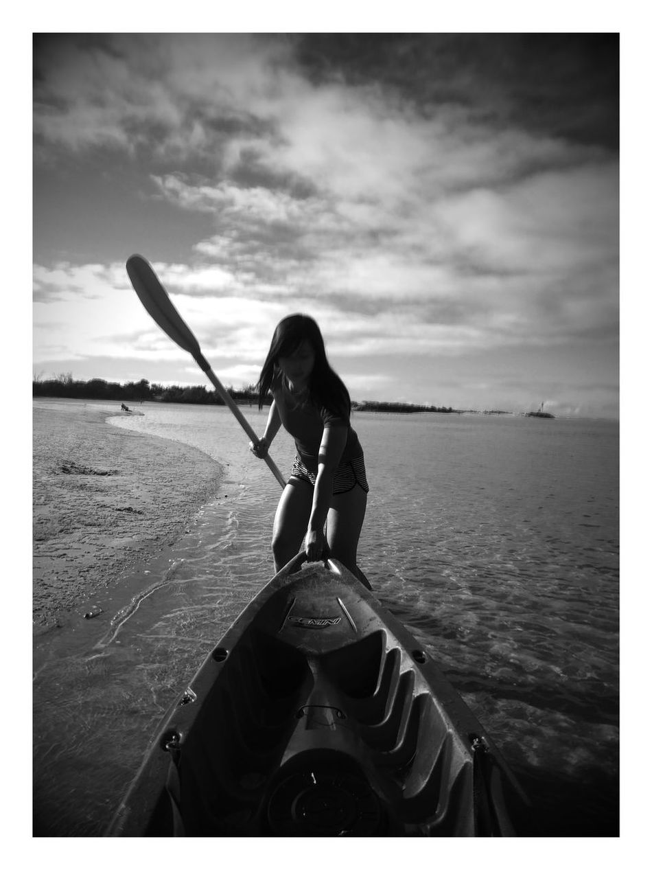 Adventure Club Kayaking Kayak Outdoors Sea Surf Getting A Tan Enjoying The Sun Active Active Lifestyle  Water Watersports Black And White Black & White Beach Silhouette Beautiful Fun In The Sun Great Outdoors Australia Gold Coast Gold Coast Australia On The Way The Color Of Sport