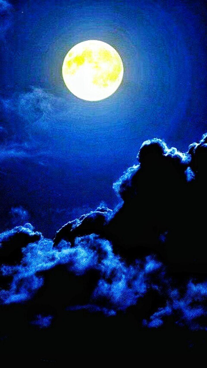 moon, night, blue, illuminated, astronomy, sky, no people, space, outdoors