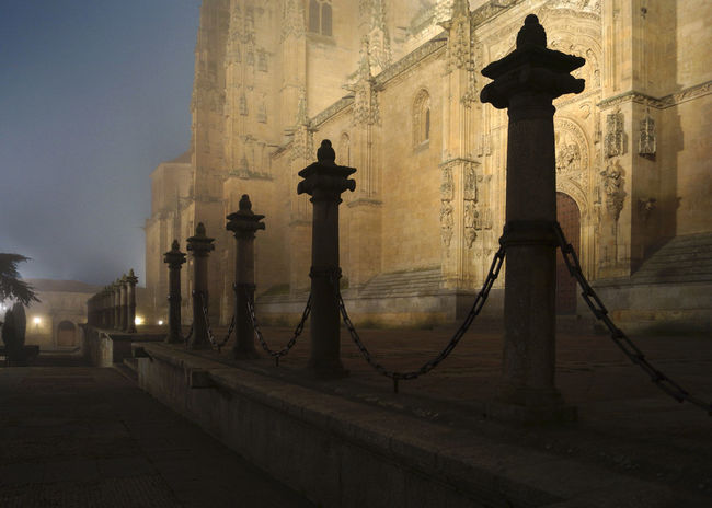 Salamanca in the mist Architecture Church Evening Mist Misterious No People Quiet Salamanca Silhouette