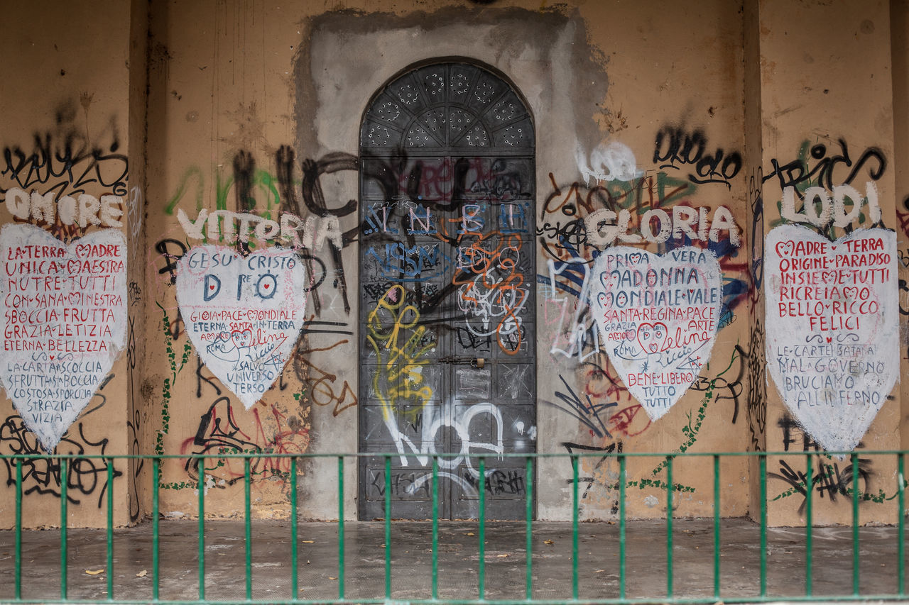 Art of Melina Riccio Architecture Art Art And Craft ArtWork Backgrounds Building Built Structure Close-up Closed Creativity Day Design Deterioration Full Frame Genova Graffiti Handcraft Junkart Melina Riccio Multi Colored No People Street Art Wall Wall - Building Feature Zena4ever