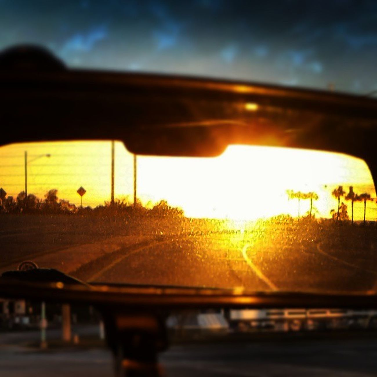 If you look at a sunrise in the rearview mirror could it also be a sunset... Sunrise Sunset Rearviewmirror Deepthoughts