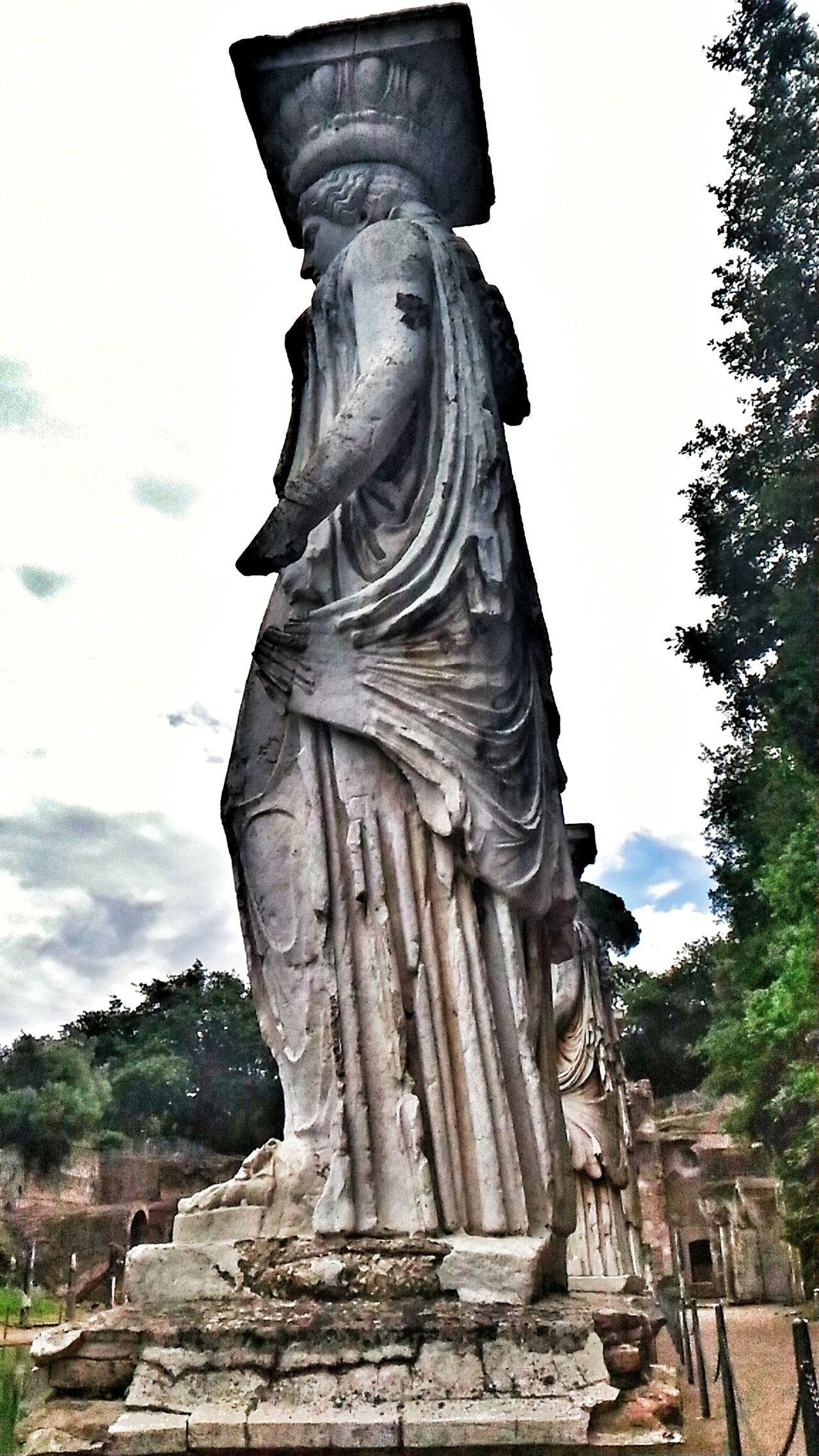 Adriano Roman Ruins Statue Canopo Villa Adriana Cariatidi
