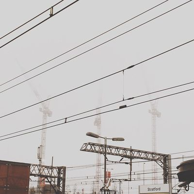 Up in the clouds at Stratford station. The winter really is coming and it's getting colder brrrrrrr ? | #VSCOcam #igerslondon #london #londonofficial #proigers #cranes |