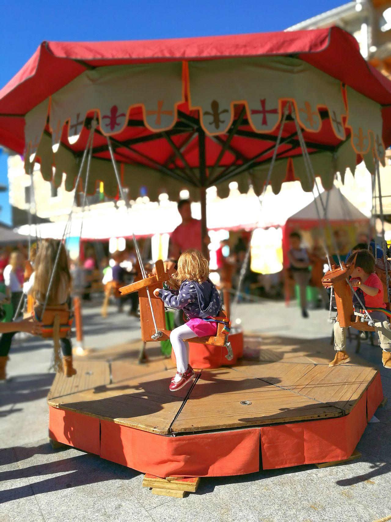 Divertimento Medieval Caballitos Madera Mercado Medieval Carousel Fotografia HuaweiP9 Scenics Detalle