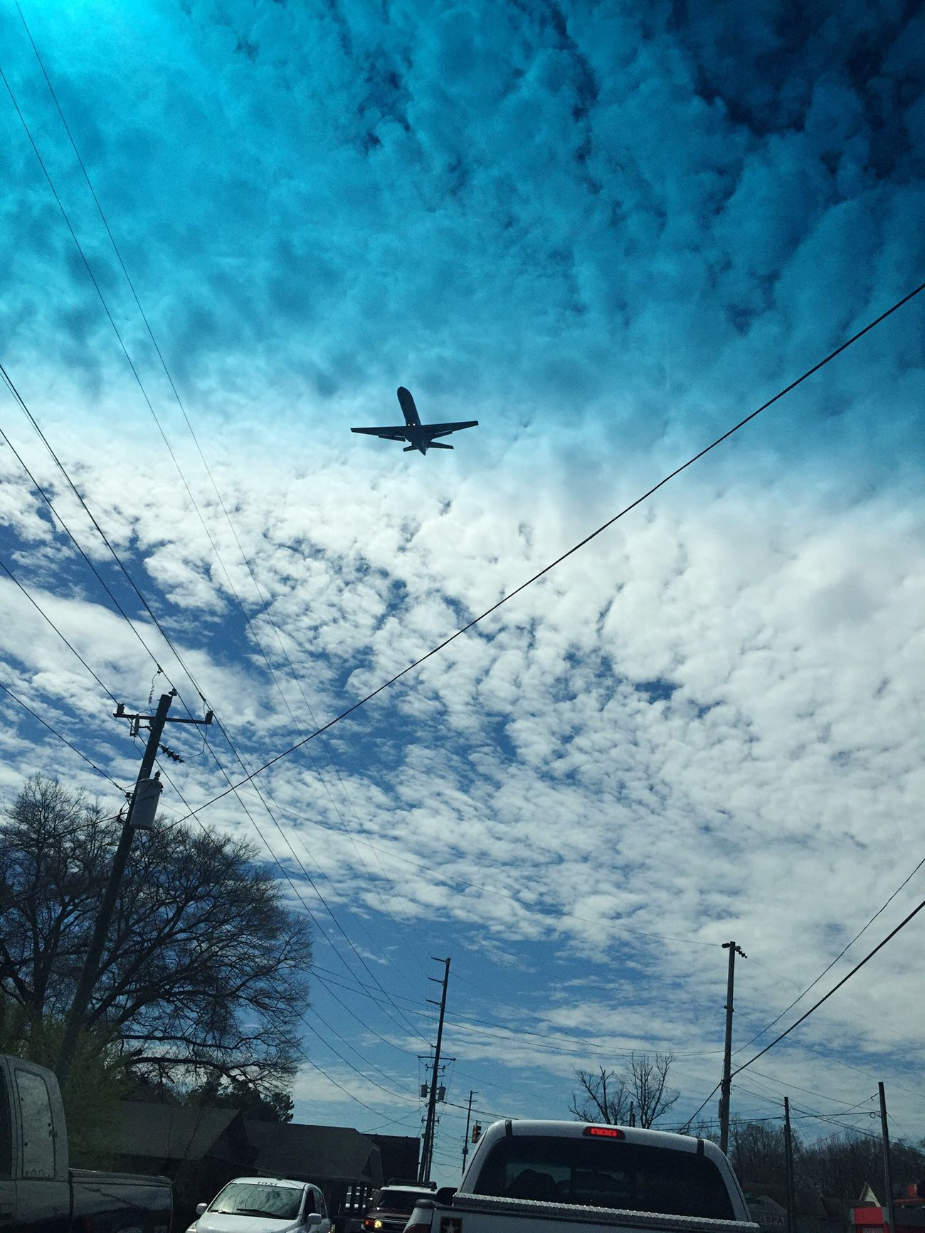 Airplane Sky Clouds Beautiful Sunny