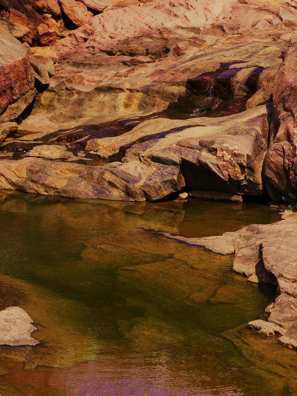 Stream Against Rocks