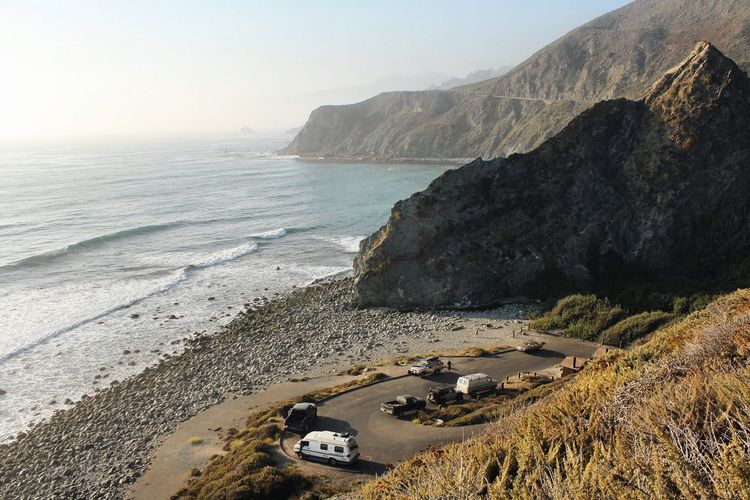 Grand Views Sea Beach Nature Transportation Sand Beauty In Nature Big Sur California Mountain Water Landscape Outdoors Day No People Finding New Frontiers EyeEmNewHere Live For The Story Live For The Story