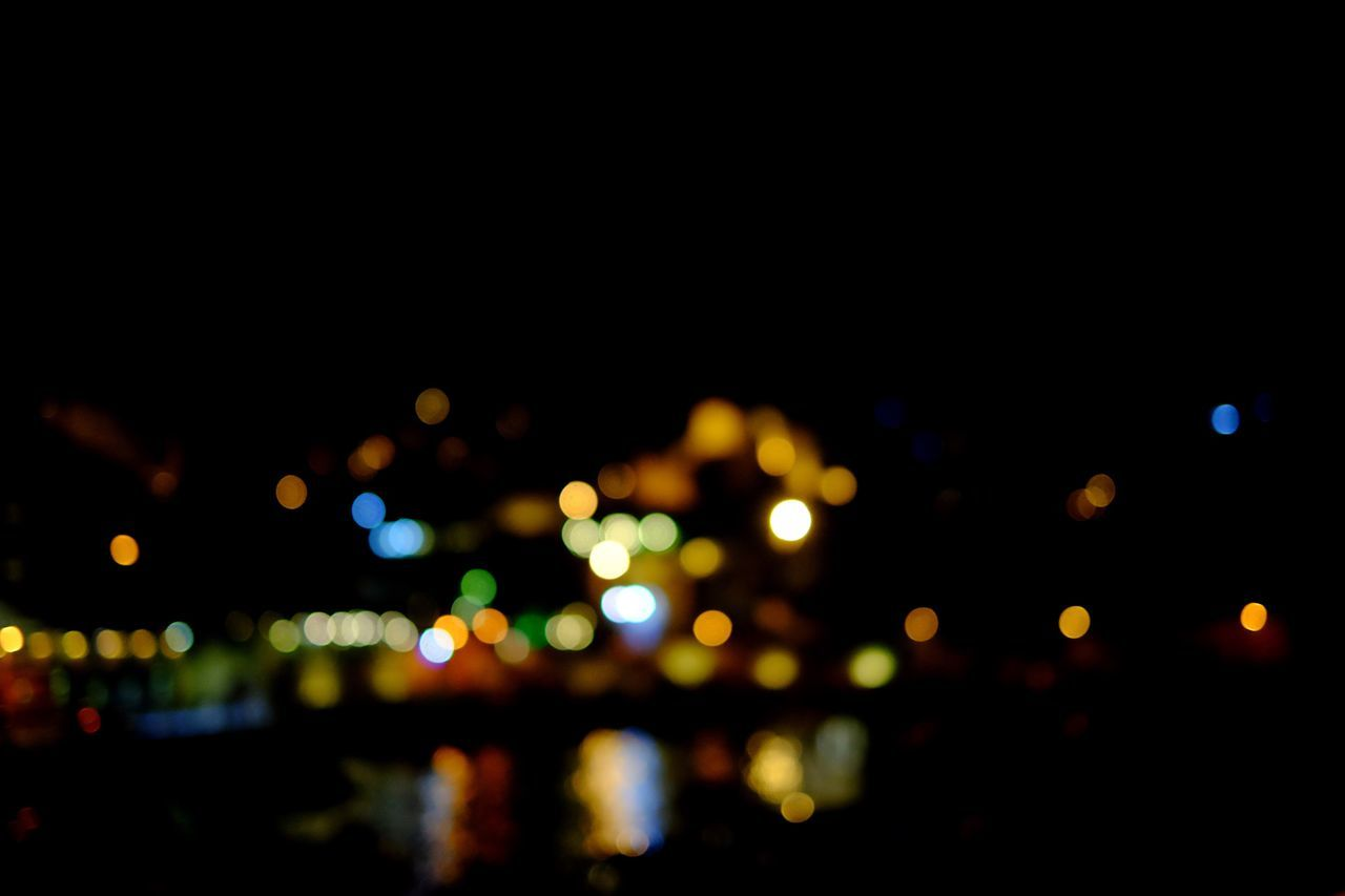 Defocused City Outdoors Cityscape Blurred Skyline Reflection Colors Abstract