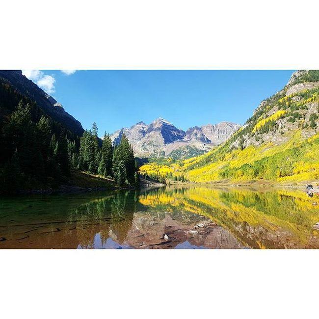 Just another day in paradise Wildernessculture Getoutdoors Coloradogram Colorado Aspen Maroonbellswilderness Maroonbells