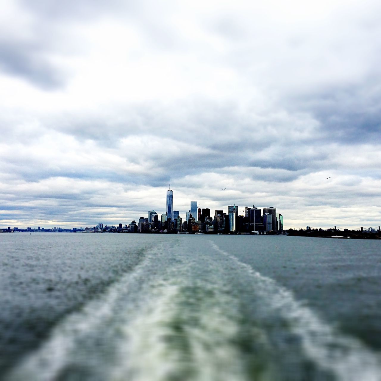 New York Skyline Dramatic Sky I'm On A Boat Horizon Clouds And Sky Grey Traveling