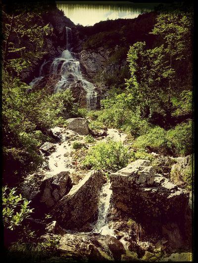Mountain View Waterfall Nature Improving