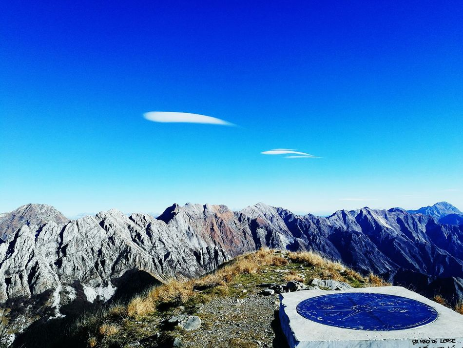 Blue No People Clear Sky Sky Nature Outdoors Mountain TrekkingDay EyeEm Best Shots Beauty In Nature Apuane Mountains
