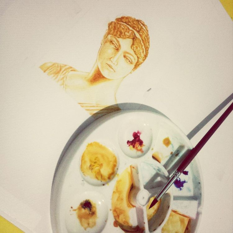 Wip Watercolor Portrait.