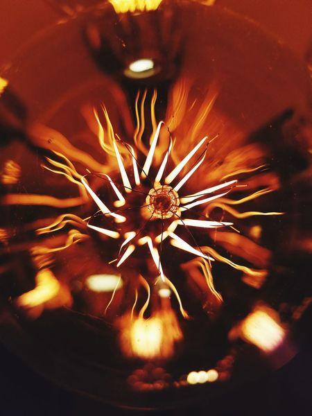 The Sun Ablaze over Wines to Amaze . Abstract Close-up Fragility NorthernUnion Illuminated Edisonbulbs