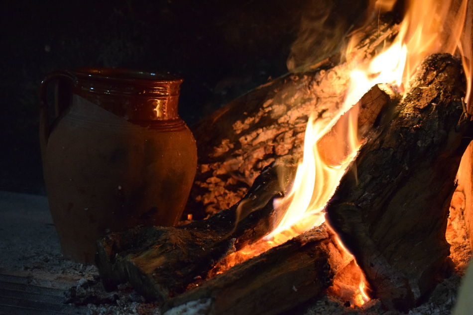 Burning Close-up Crete Fire Firefood Flame Food Food Photography Foodphotography Heat - Temperature Illuminated Nature Night No People Outdoors