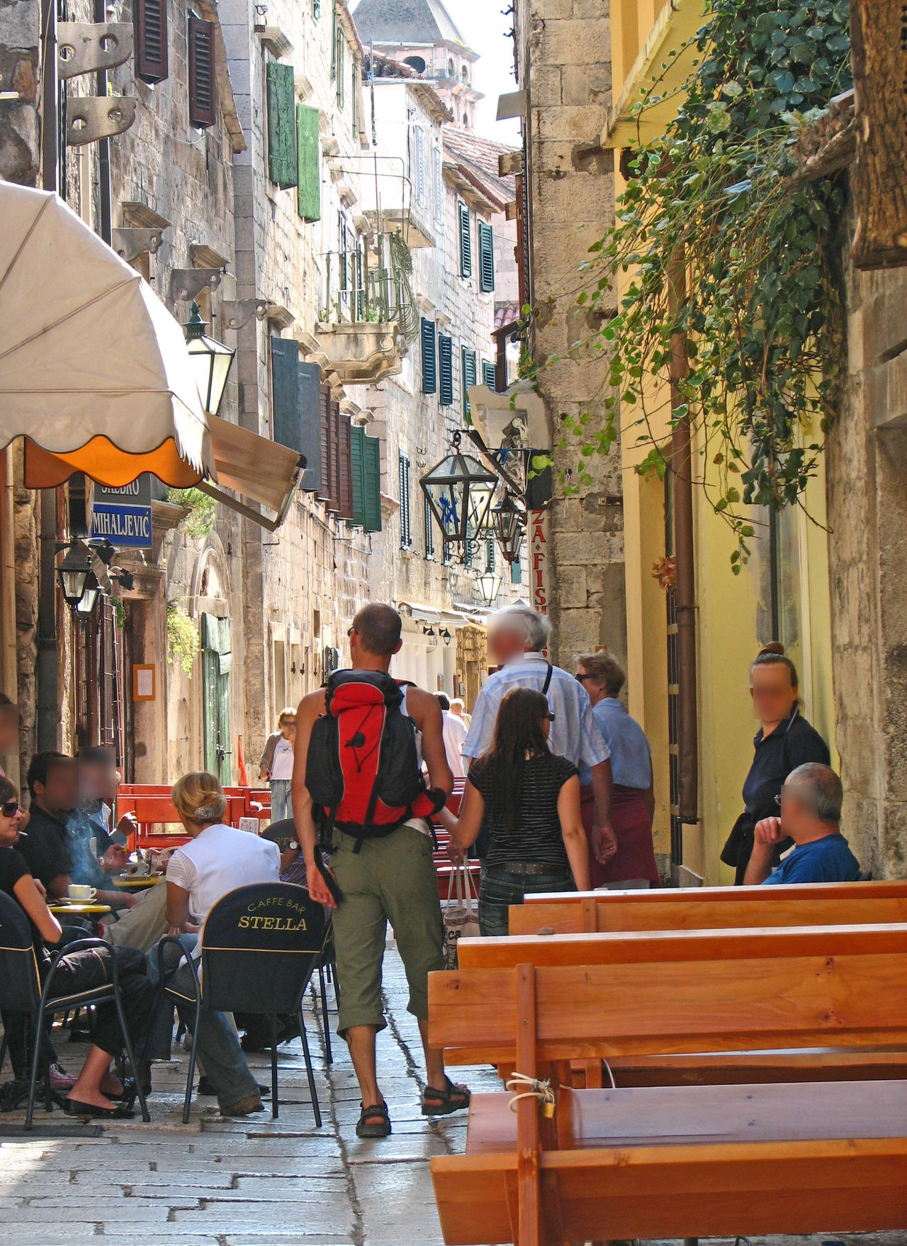 Al Fresco Dining Architecture Bars And Restaurants Building Exterior Built Structure Cafe City Croatian Food Day Large Group Of People Leisure Activity Lifestyles Men Outdoors People Pretty Street Real People Sitting Tourist Destination Website Design Investing In Quality Of Life