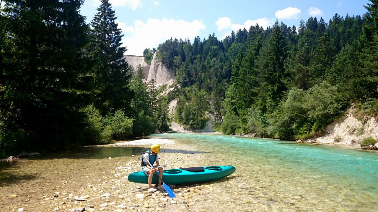 Isar river. Germany River Nature Nature_collection Nature Photography Kanoe Outdoors Outdoor Photography Sports Alps Europe Outdoor Sport Blue Green The Great Outdoors - 2016 EyeEm Awards The Essence Of Summer Feel The Journey EyeEm X Canon - Feel The Journey