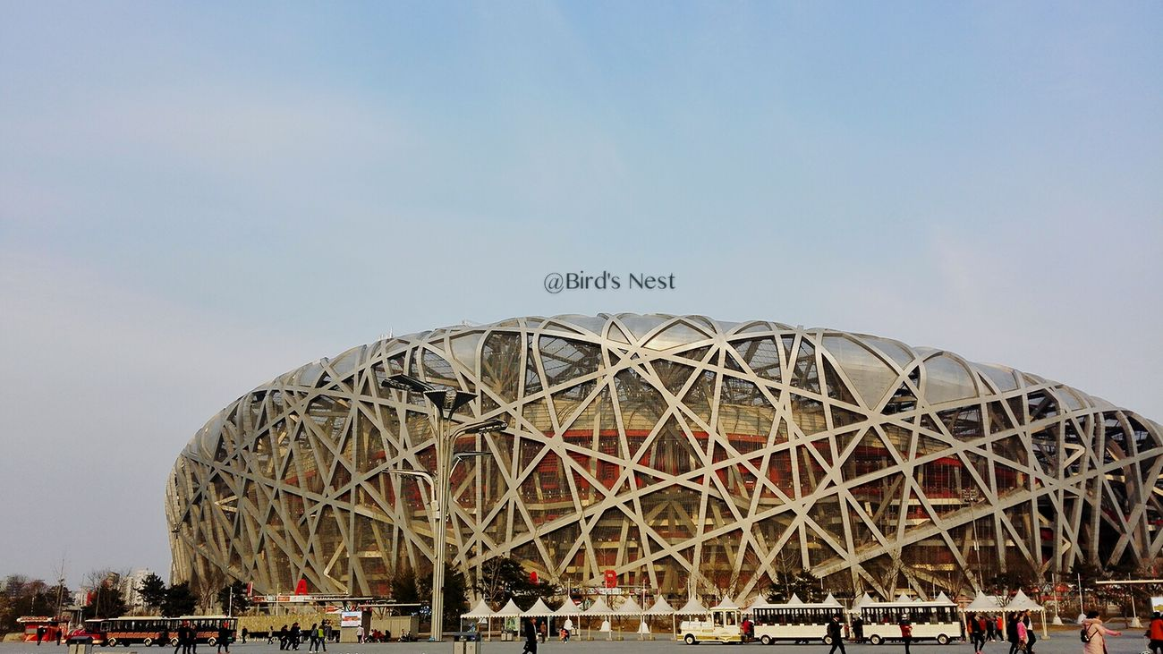 Bird's Nest. City Views Travel Destinations Tourism Beijing Olympic Park Beijing Scenes Beijing, China Modern Architecture Olympic EyeEm New Here EyeEmNewHere Beijing EyeEmNewHere