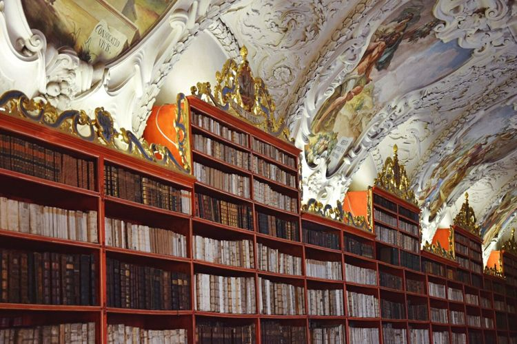 Library Library Book Gold Book Books Bookstore Bookshelf Bookworm Tourism Tourist Tourists Tourist Attraction  Tourist Destination Prague Prag Kloster Strahov Colour Of Life Museum Eyeemphoto My Favorite Place