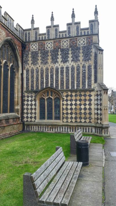 Patterns Battlements Arches Stone Wall Leaded Glass Leaded Windows Window Gothic Arches Stone Detail Cathedral Chelmsford Quoins Architectural Detail Medieval Architecture Church Stone Geometry Flint Buttress Bench Medieval Church