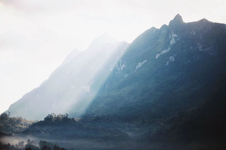 Mountain Beauty In Nature Mountain Range Nature Landscape No People Sky Fog Chiang Dao Chiang Mai | Thailand