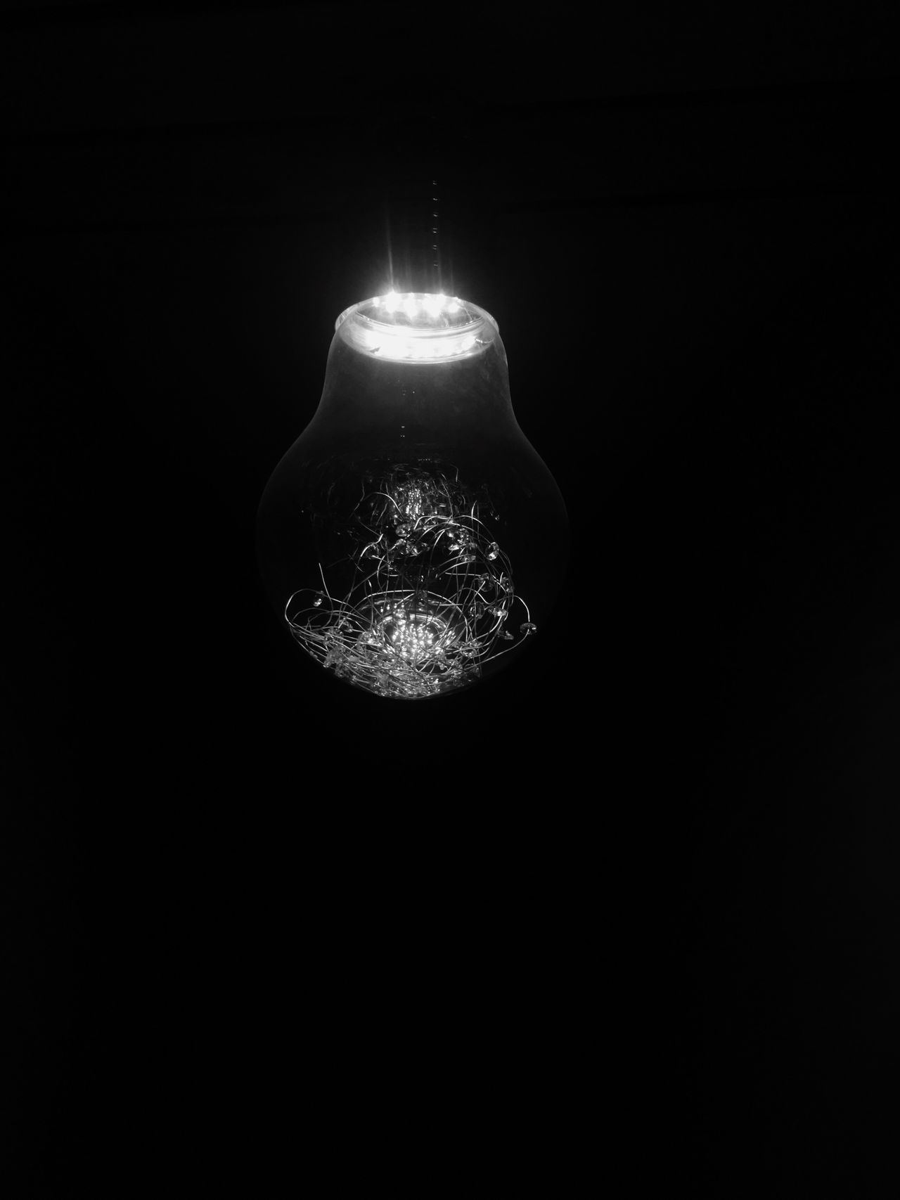 You must question every photograph and its detail then only good result can be produced. Lighting Equipment Electricity  Illuminated Light Bulb Low Angle View Hanging Close-up No People Studio Shot Indoors  Filament Black Background Unique Perspectives Monochrome Photography Blackandwhite Photography EyeEm Vision Shadows & Lights Space Exploration