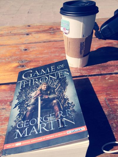 Great weather to relax and read Sunny Coldwind Gameofthrones Spearminttea