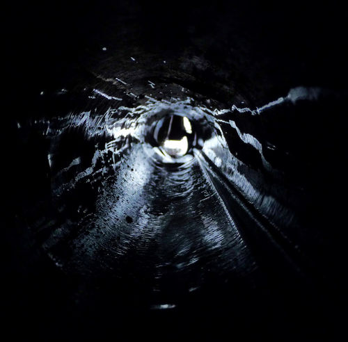 20110314 - In the Tube Close-up Outdoors Rain Rainy Days Splashing Tube Water Wave