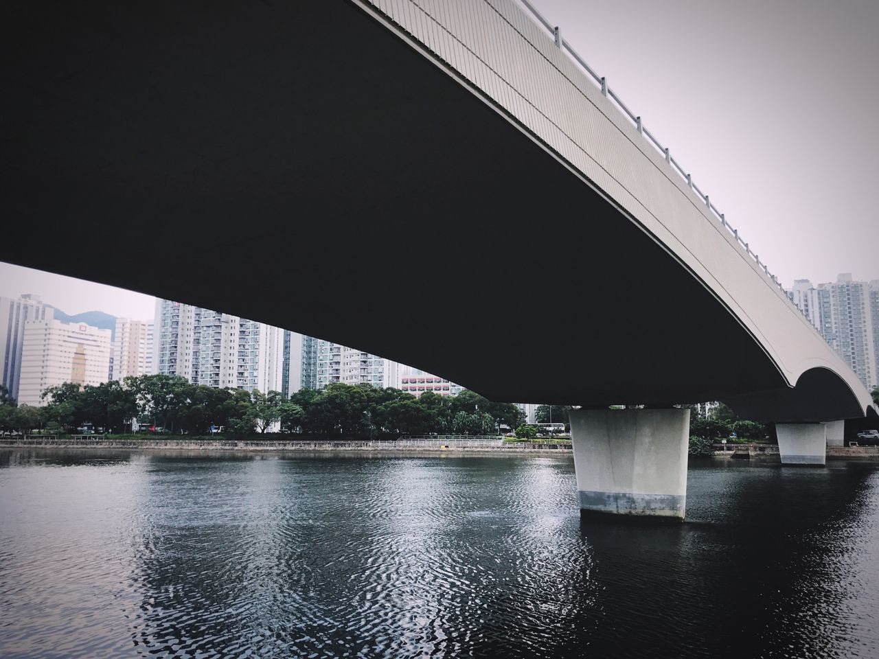 Architecture Built Structure Building Exterior Connection Bridge - Man Made Structure City Water Clear Sky River Engineering Waterfront Day Outdoors Modern No People Tree Sky Hong Kong Shatin Riverside Sunny Autumn