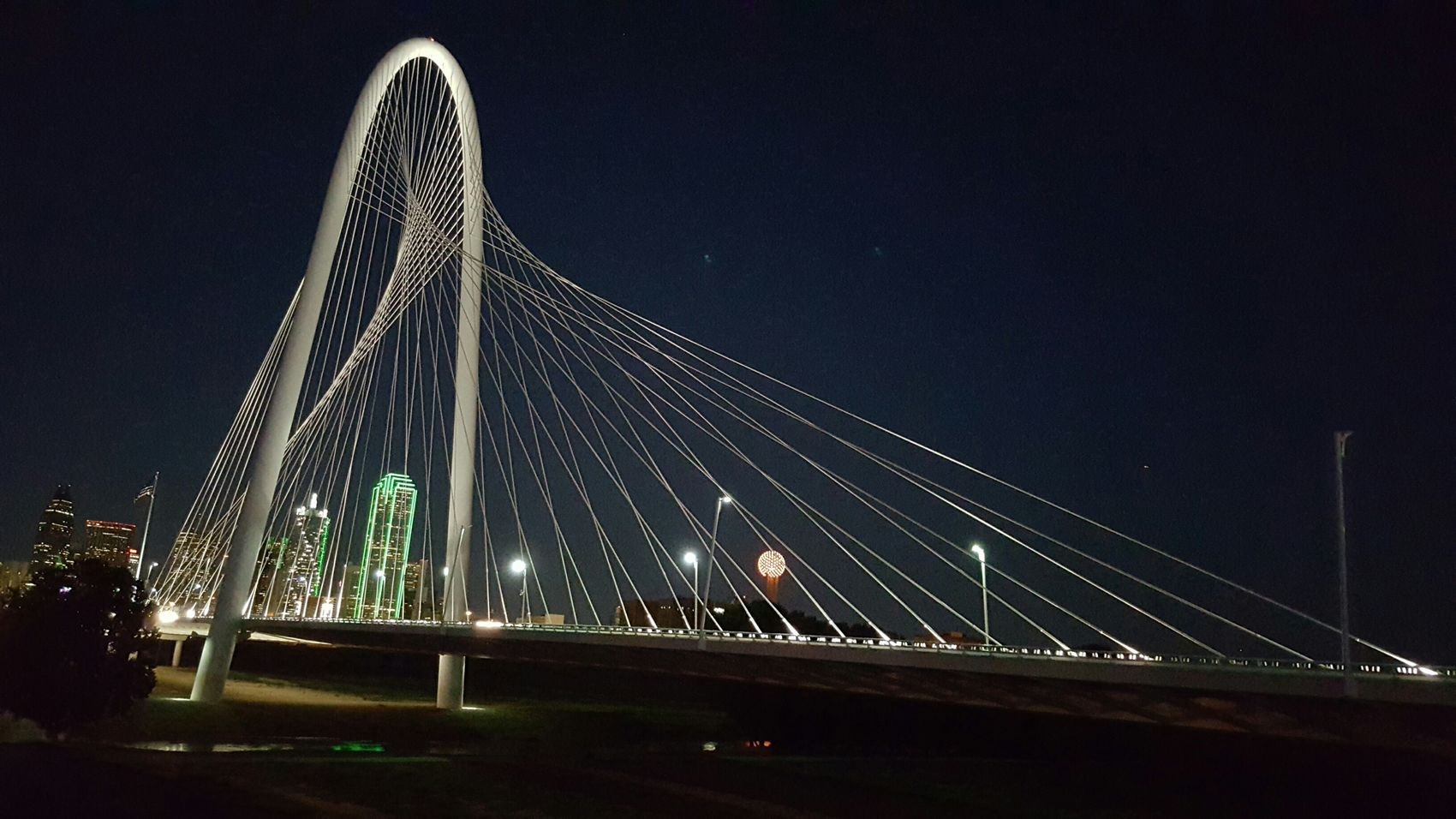 Galaxynote5 Dallas Texas Margrethunthillbridge Skyline