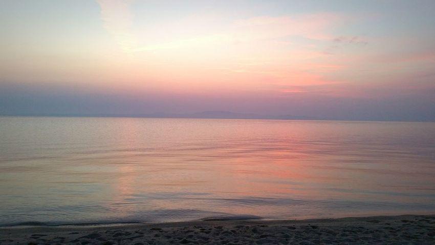 Enjoying The Sunset Sunshine Relaxing Swimming Sea Chalkidiki Summer Summertime Greece Hotel