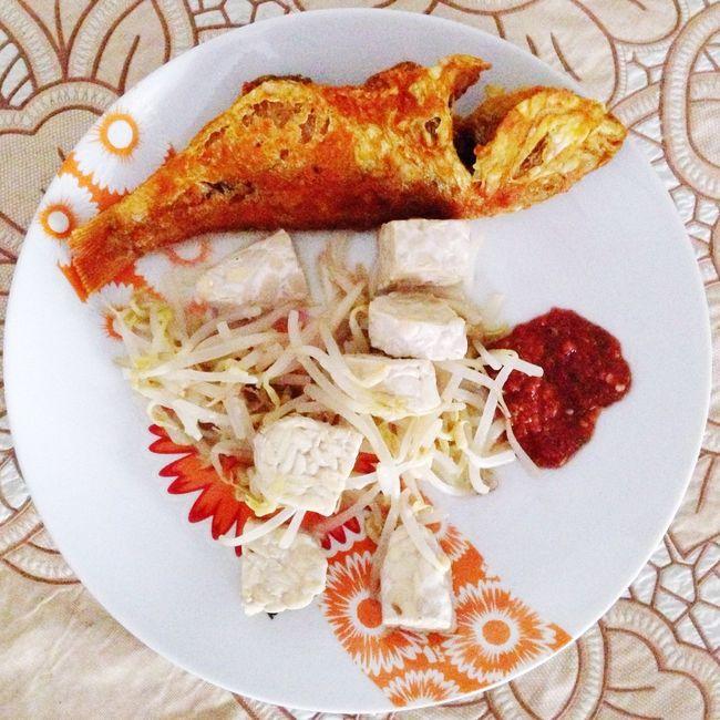 everyday village folks simple dish Tempe Sambalbelacan