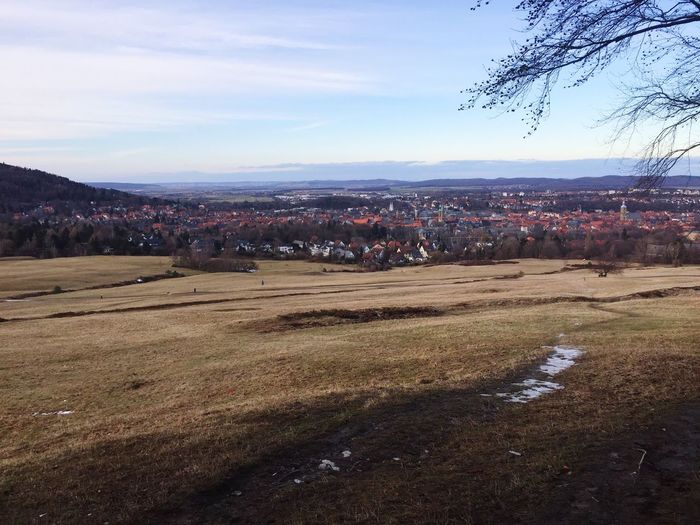 Beautiful View over Goslar Rammelsberg Small City Life January