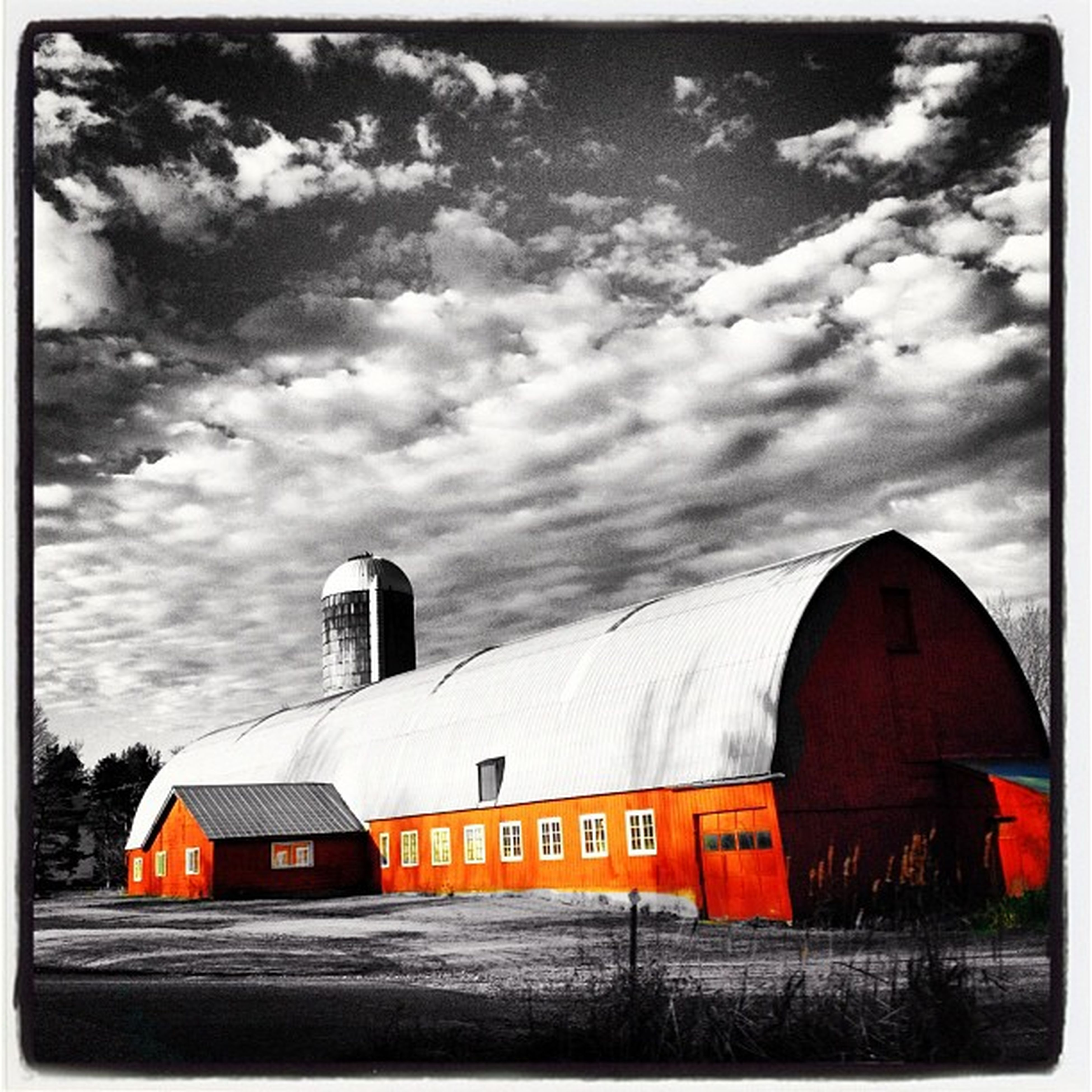 Red Barn of Elm Hill Farm. #vt Silo Vermont_scenery Farm Insta_america Blackwhite 802 Bw Igharjit Iphoneonly Vermontbyvermonters Photooftheday Vermont_scene Picoftheday Igvermont Artistic Igvt Vermont Vt_landscape Selective_coloring All_shots Redbarn Instamood Bestoftheday Instagood Webstagram Blackandwhite Vt