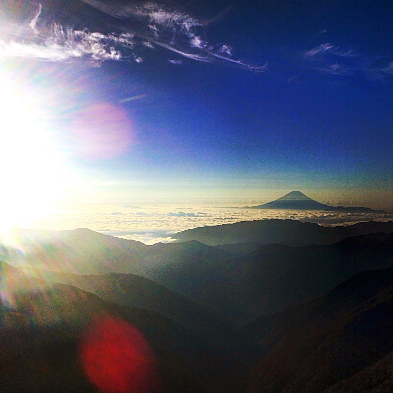 Mountain Beauty In Nature Nature Sky Like Love Morning Sky Sun Sunrise Fujimount Mountfuji Fuji 北岳 富士 富士山 Landscape_photography 登山 Japan Beautiful Photography Landscape