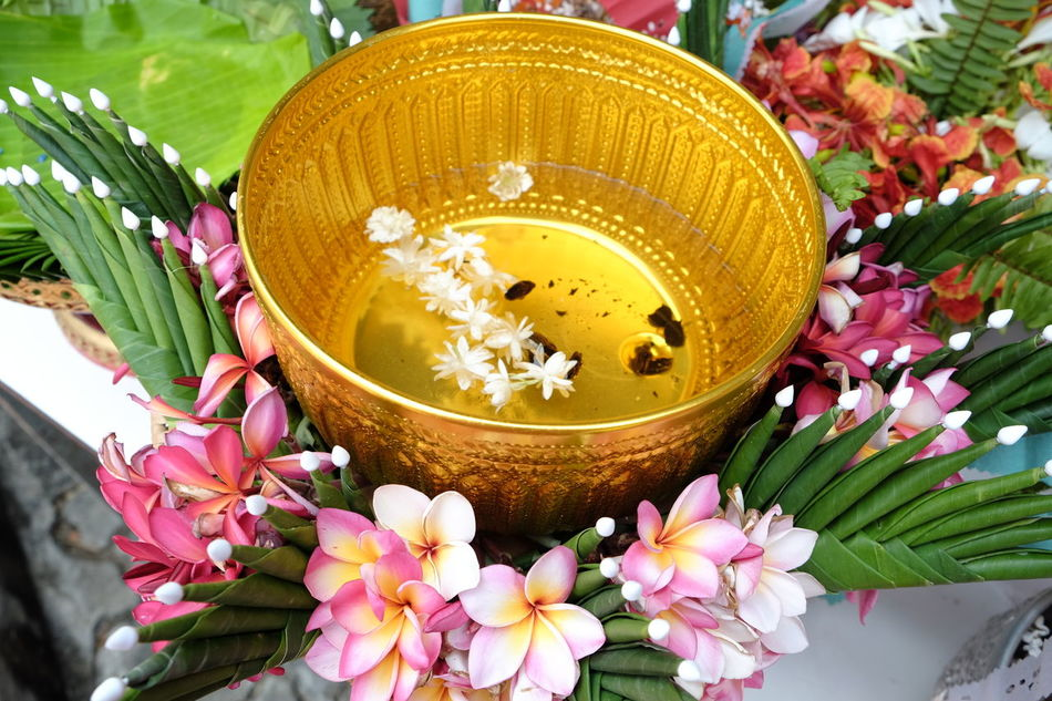 #Antique Brass Holy Water Bowl Blooming Blossom Botany Bouquet Bunch Of Flowers Close-up Day Decoration Flower Flower Head Focus On Foreground Fragility Freshness Growth In Bloom Multi Colored Nature No People Outdoors Petal Pink Color Pollen Rice Offering Thai Culture