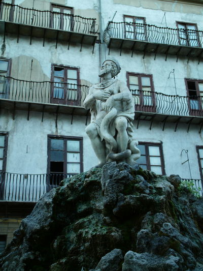 GenioDi Palermo Sicily, Italy Architecture Art And Craft Building Exterior Built Structure Day Low Angle View Photography Sculpture Statue Streetphotography Trinacria