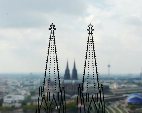 This is cologne! Köln Kölner Dom Focus On Foreground Sky Close-up Nature Travel Destinations Growth Day Scenics Outdoors Beauty In Nature Non-urban Scene Tourism No People Tranquil Scene Tranquility Tall Cloud - Sky TakeoverContrast My Year My View Adapted To The City The Architect - 2017 EyeEm Awards