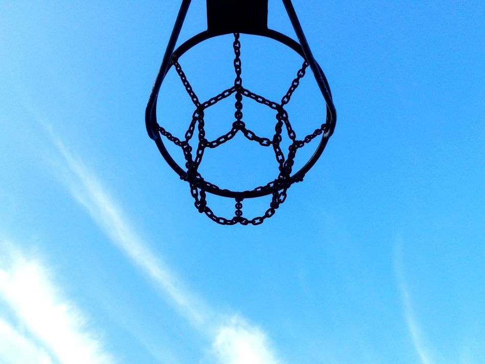 Beautiful stock photos of basketball, Basketball - Sport, Basketball Hoop, Blue, Day