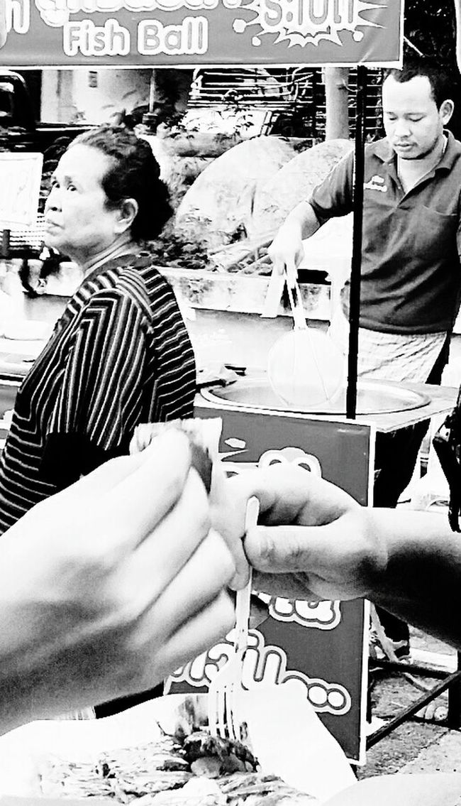 Deep Fried Fish Balls Streetfood Stalls Lamai_samui_thailand
