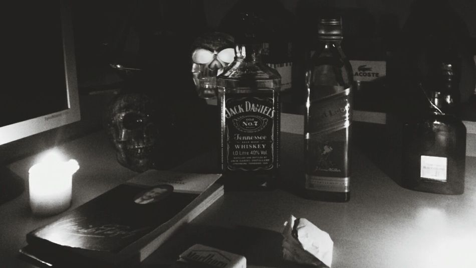 Drunk Nights Jack Daniel's Dangerous Sexy Red Label Relaxing Weed Hot Candle