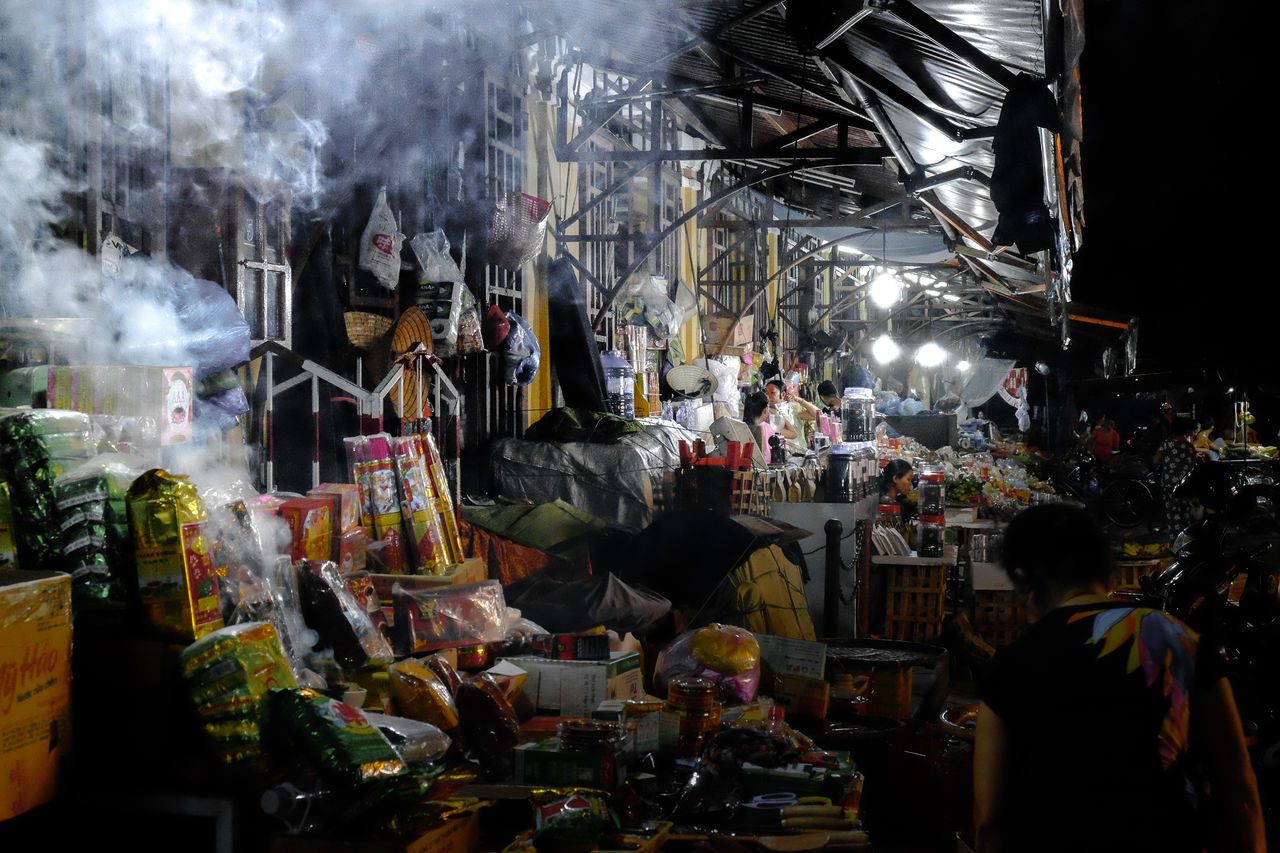 Asia Cuisine Asian Market Culture And Tradition Food Market Local Exper Local Life Local Market Night Night Lights Night Market Night View Smoke - Physical Structure Steam Tourism Travel Destinations Travel Photography View