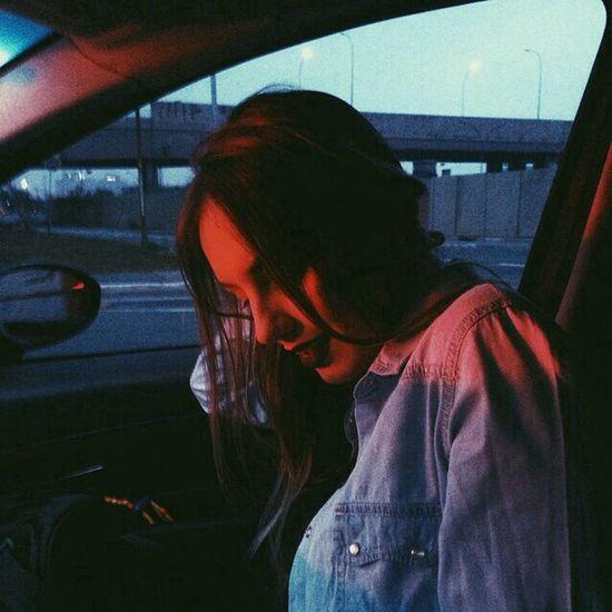Girl Night Car