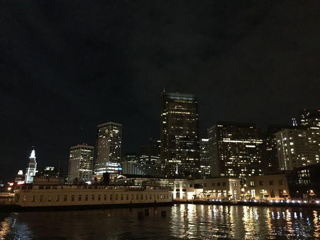 San Fransisco Skyline by Night Skyline San Francisco USAtrip Carlifornia Night View Night Photography Embarcadero Waterfront Night Lights City Impressions City City Lights